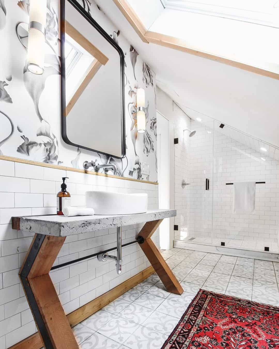artwork for attic bathroom idea