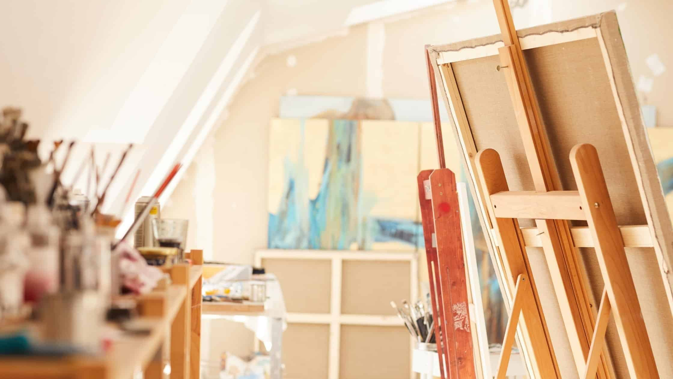 attic art studio ideas