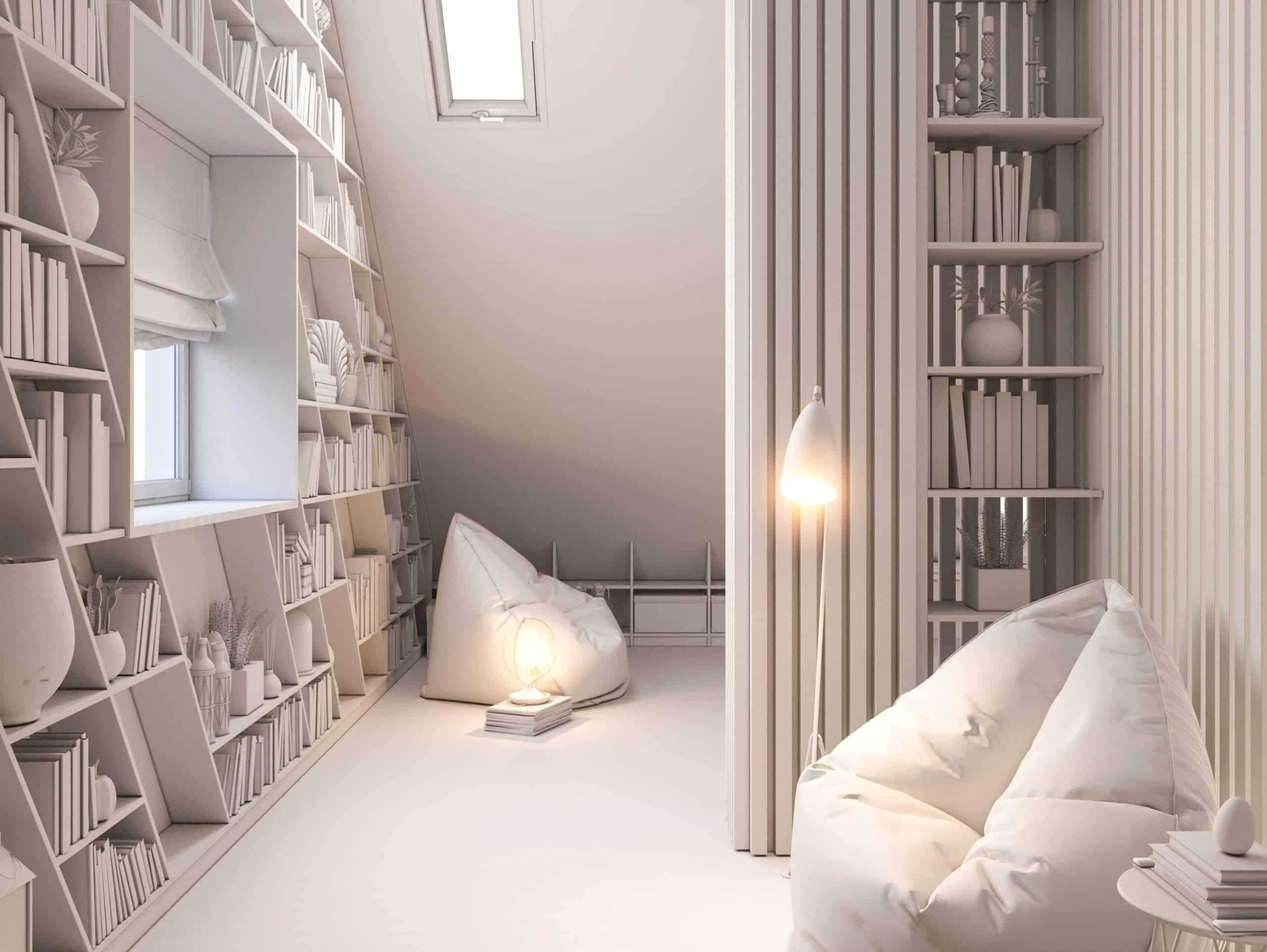 attic storage shelves