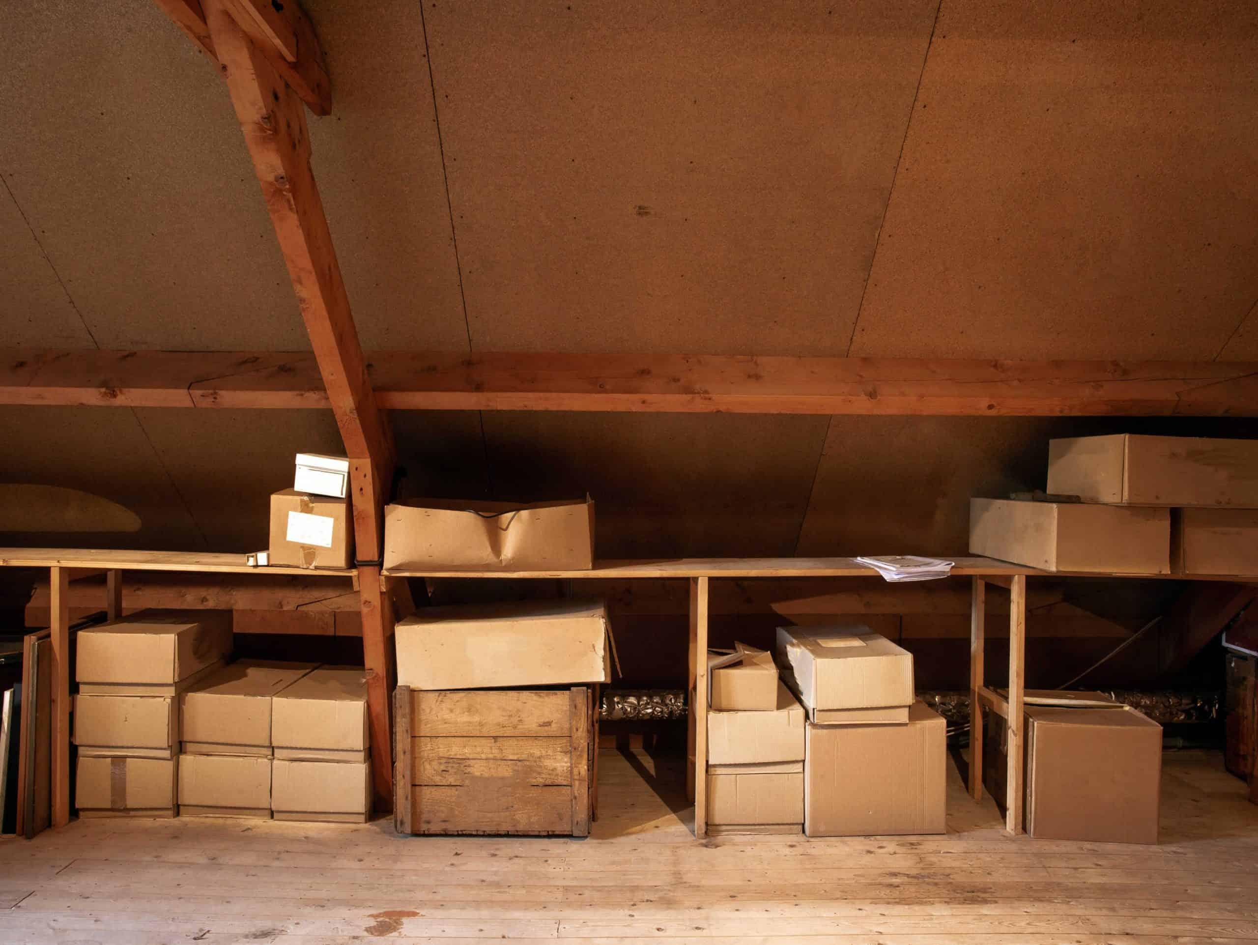 attic wall storage