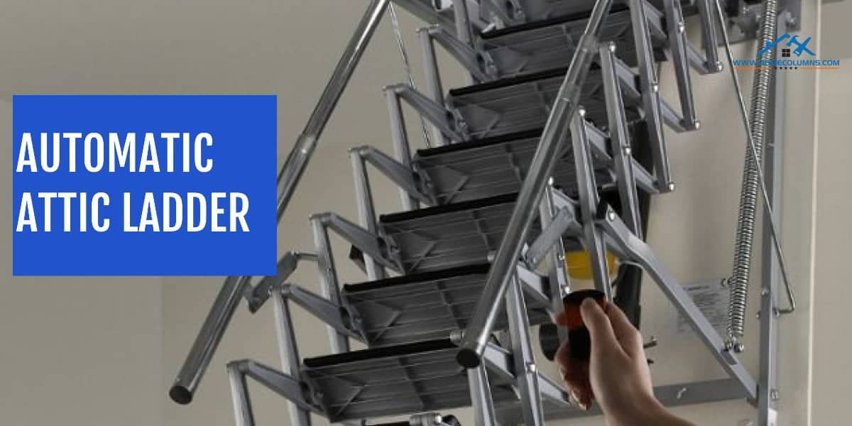 automatic attic ladder