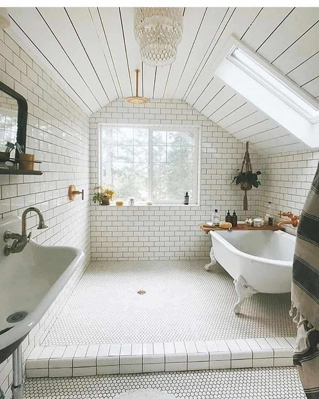 best tiny attic bathroom idea