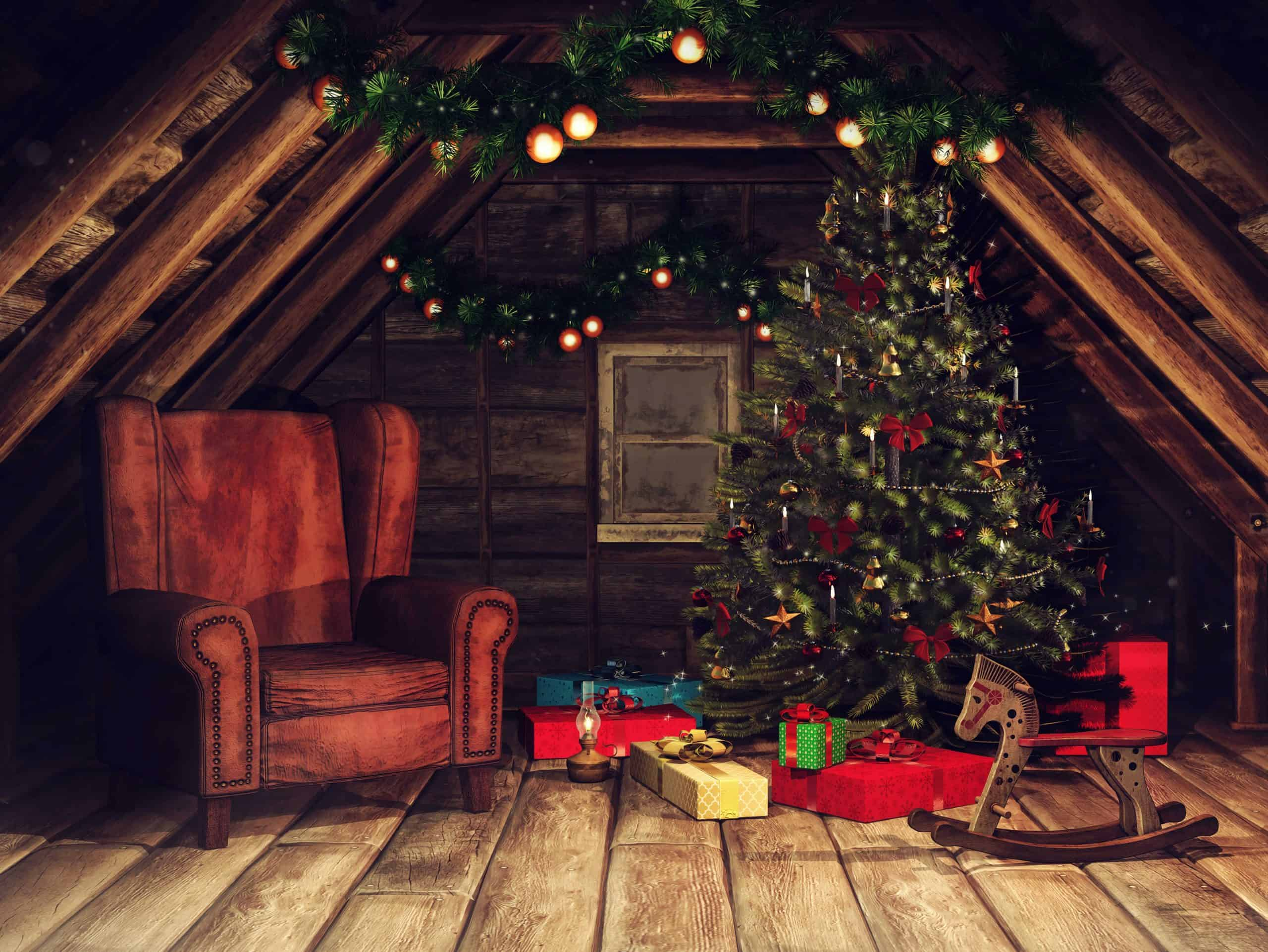 christmas in attic