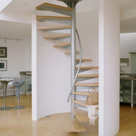 spiral staircase for attic