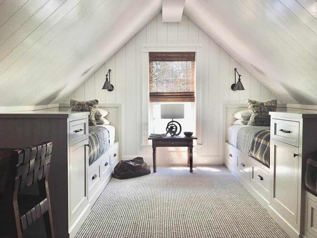 twin beds for attic bedroom