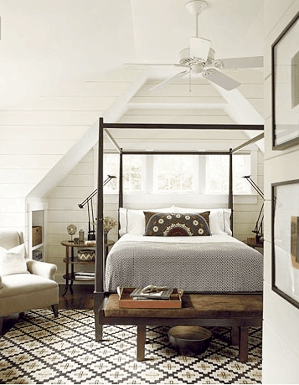 unusual bed frame idea for attic