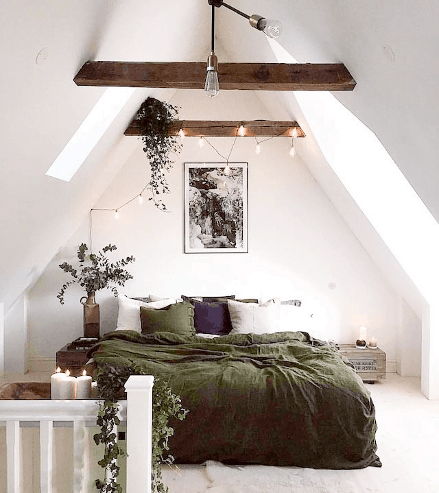 utilize your rafters in attic bedroom
