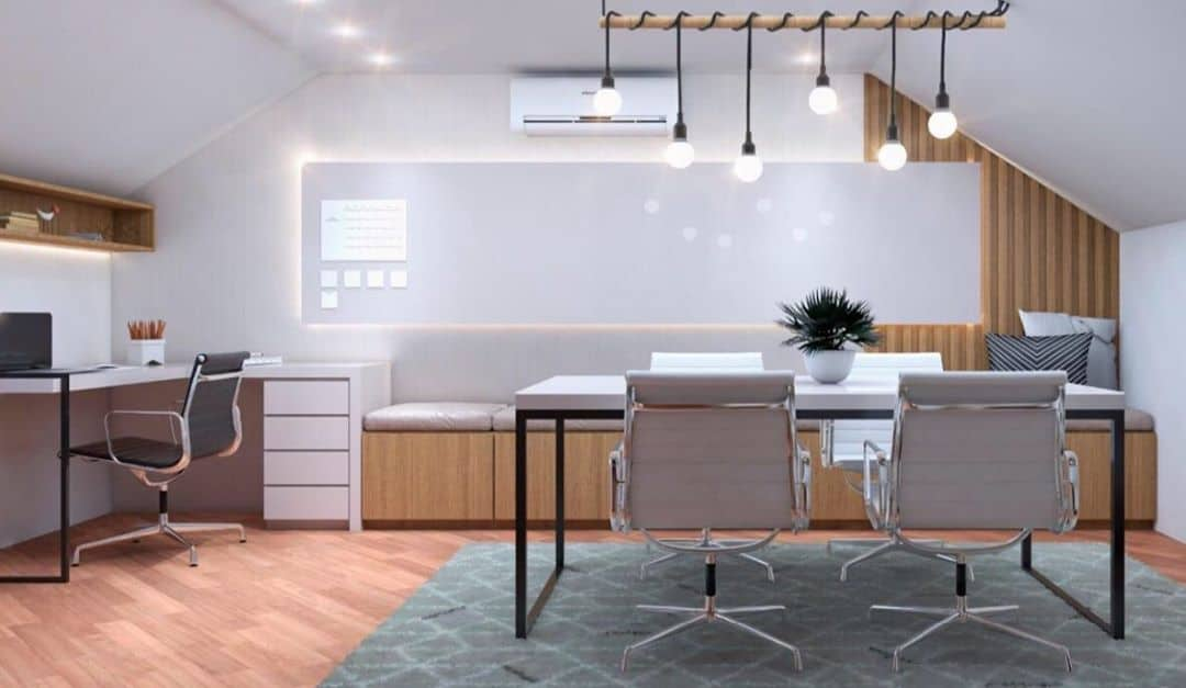 aesthetic lighting options only for your attic office