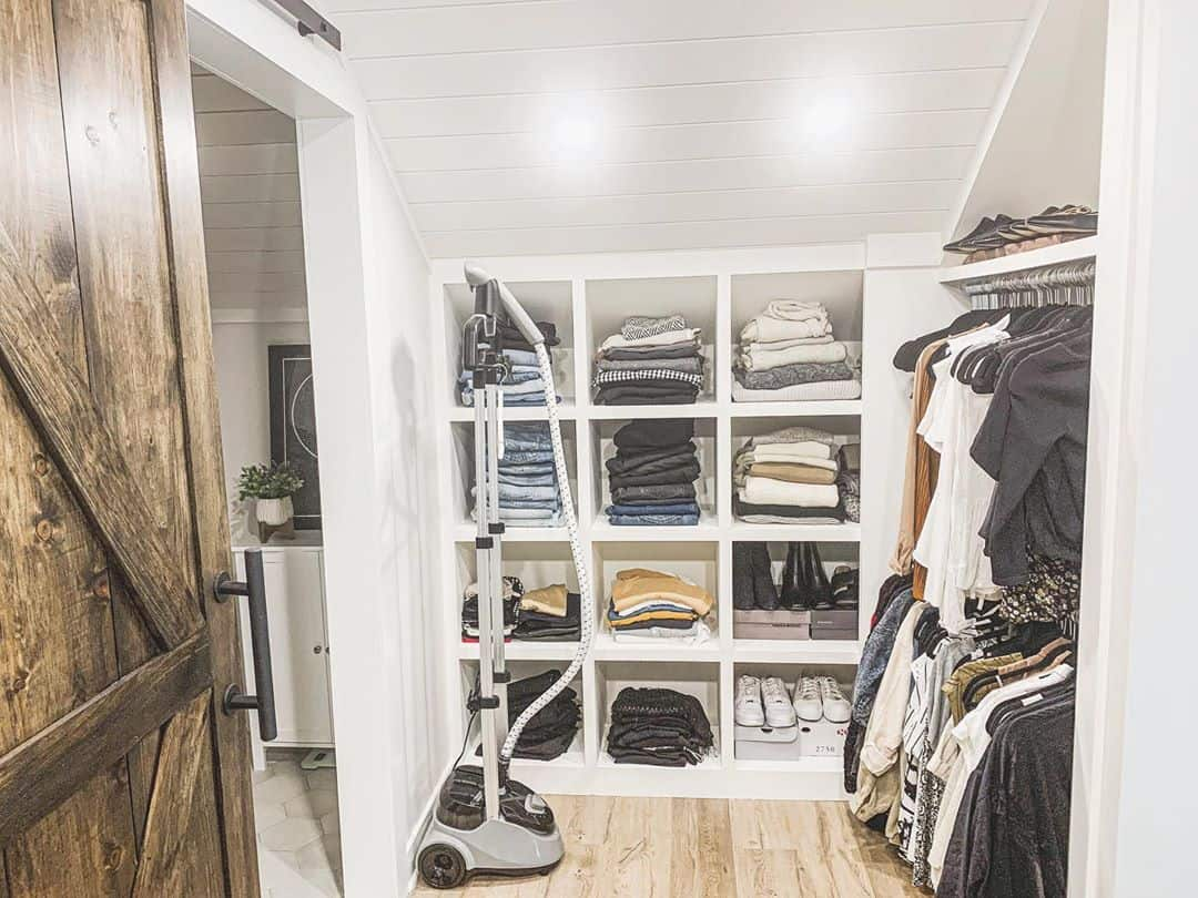 be creative with tight spaces for your attic closet