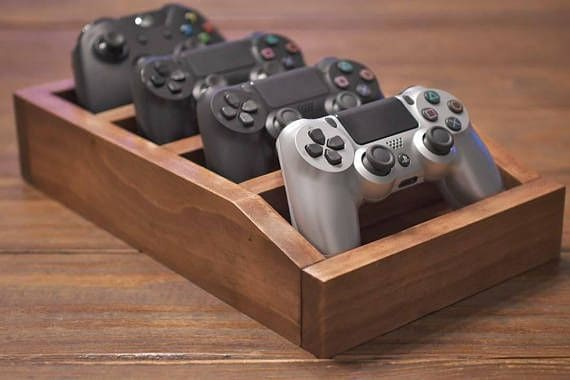build a controller organizer for your attic game room