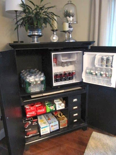 build a snack compartment in your attic game room