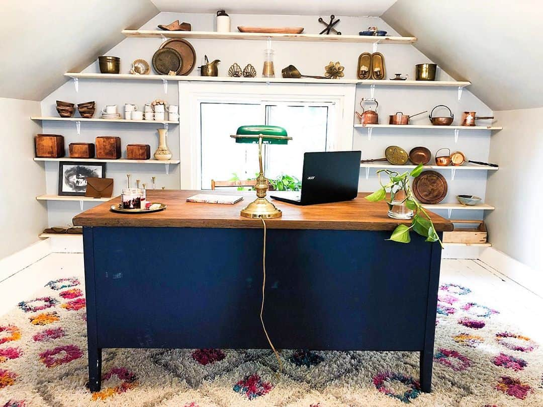 build a wall shelf for your attic office