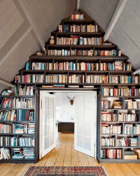create a massive library in your attic