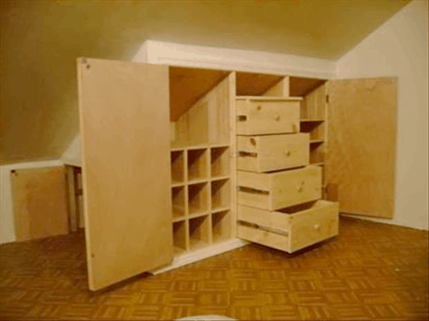create an all-out cabinet in your attic