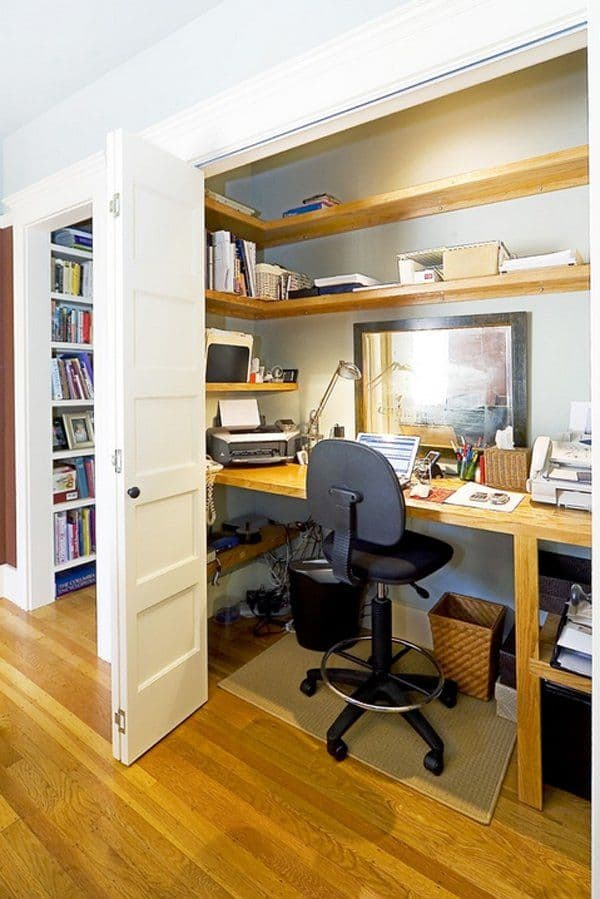 hide space in your attic office