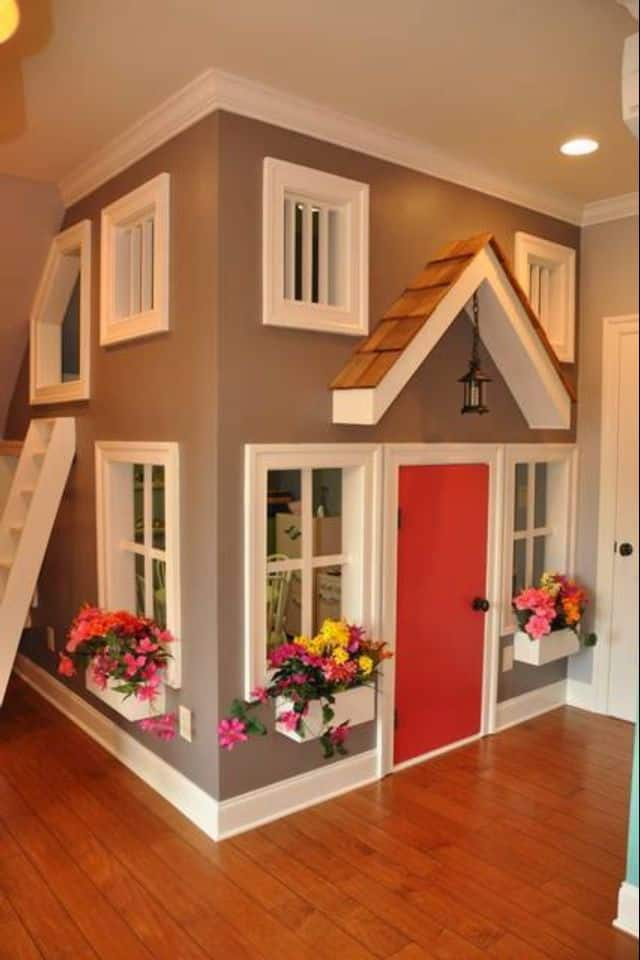 input an actual house design in your kids attic playroom