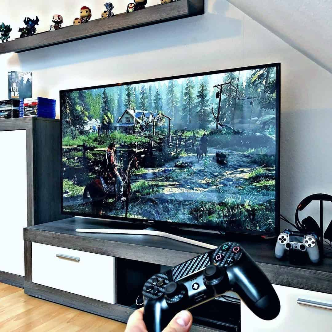 invest in a high-quality monitor for your stylish attic game room