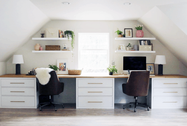 invite some natural light in your attic office