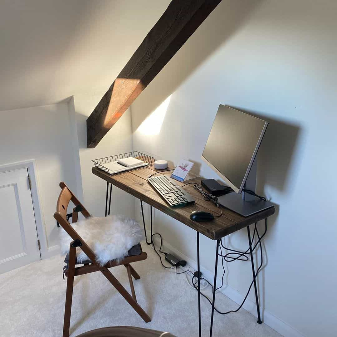 keep it minimal in your attic office