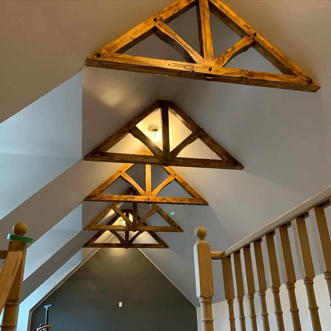 keep the natural wood in your attic game room