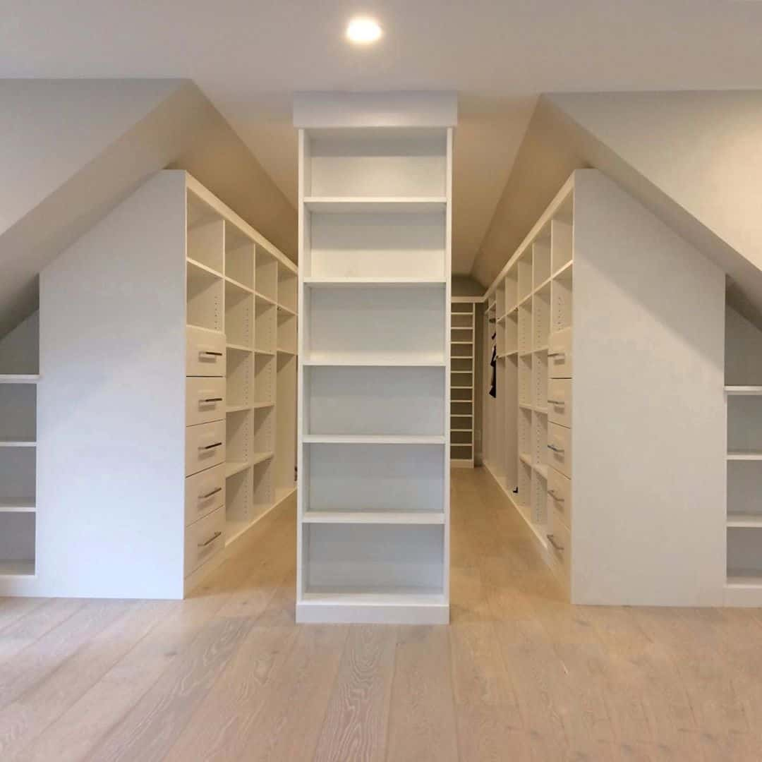 library style closet for your attic