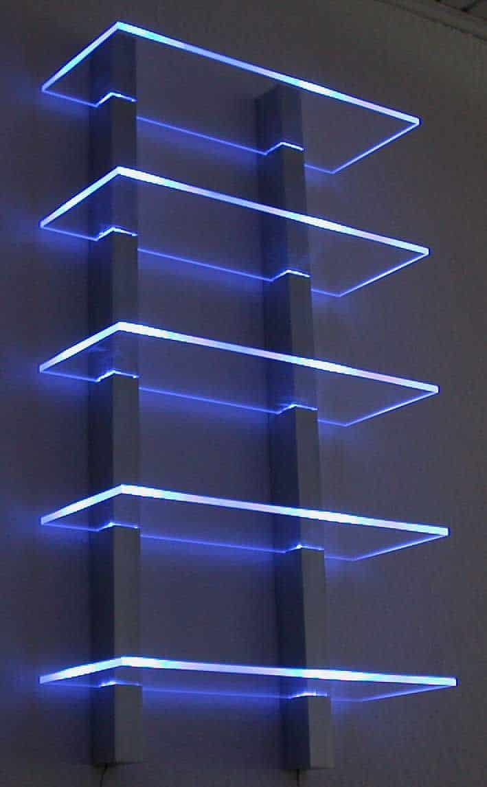 luminous shelves for your stylish attic game room