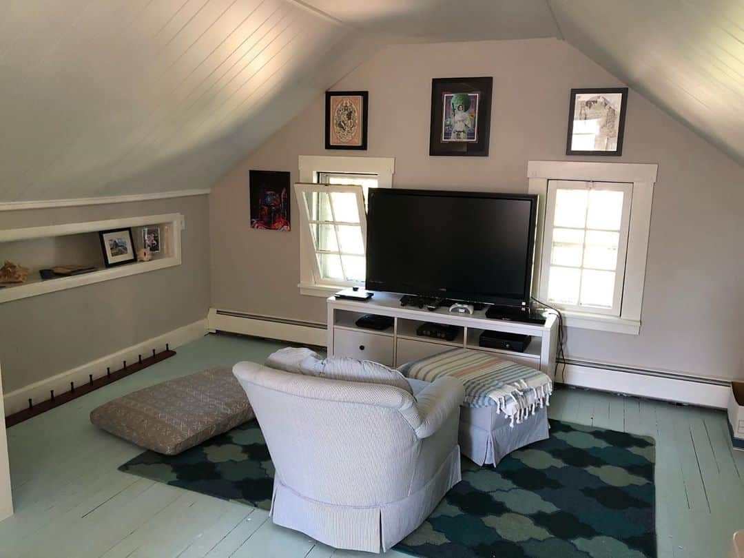 make it relaxing in your attic game room