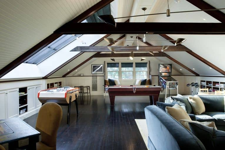 make your attic game room a space for adults