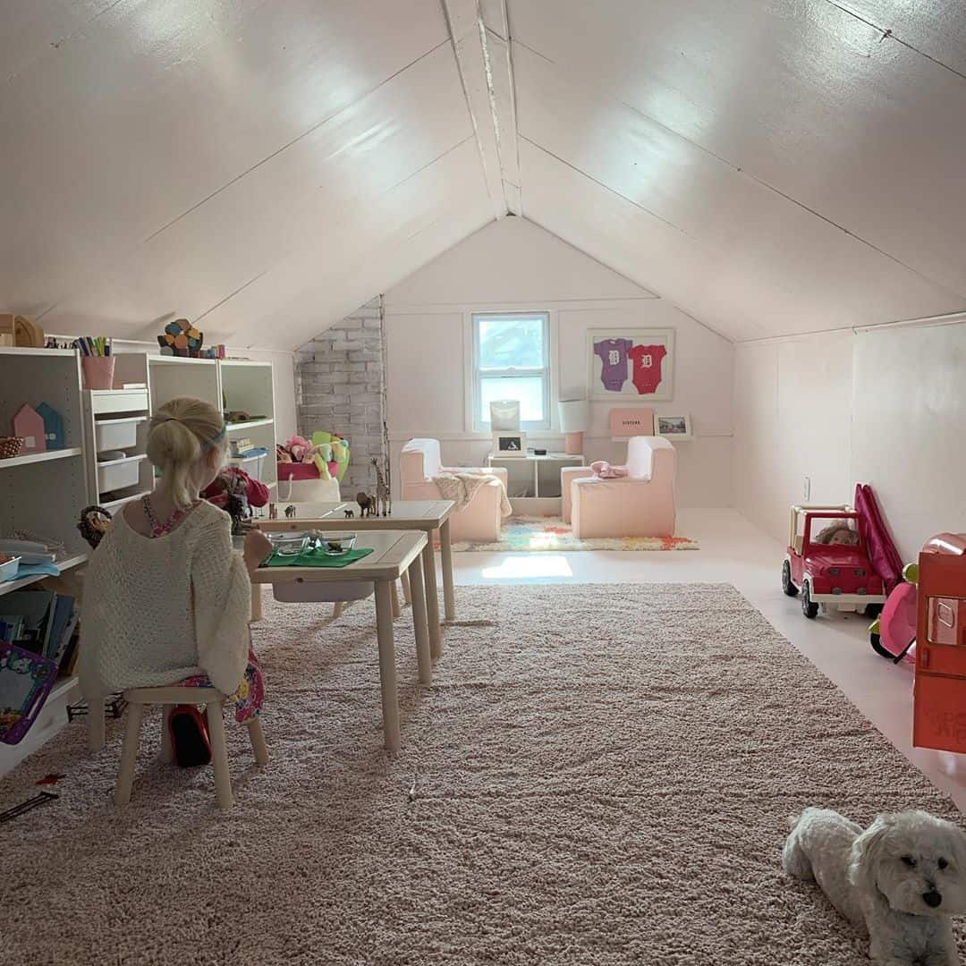 maximize the room for your kids attic playroom