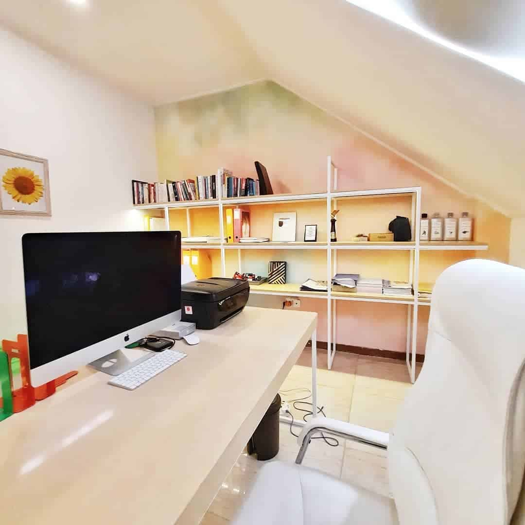 mesmerizing walls inside your attic office