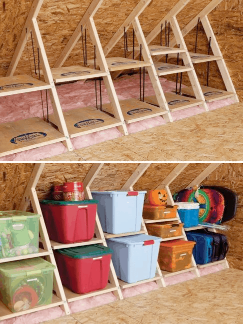 use your trusses as storage