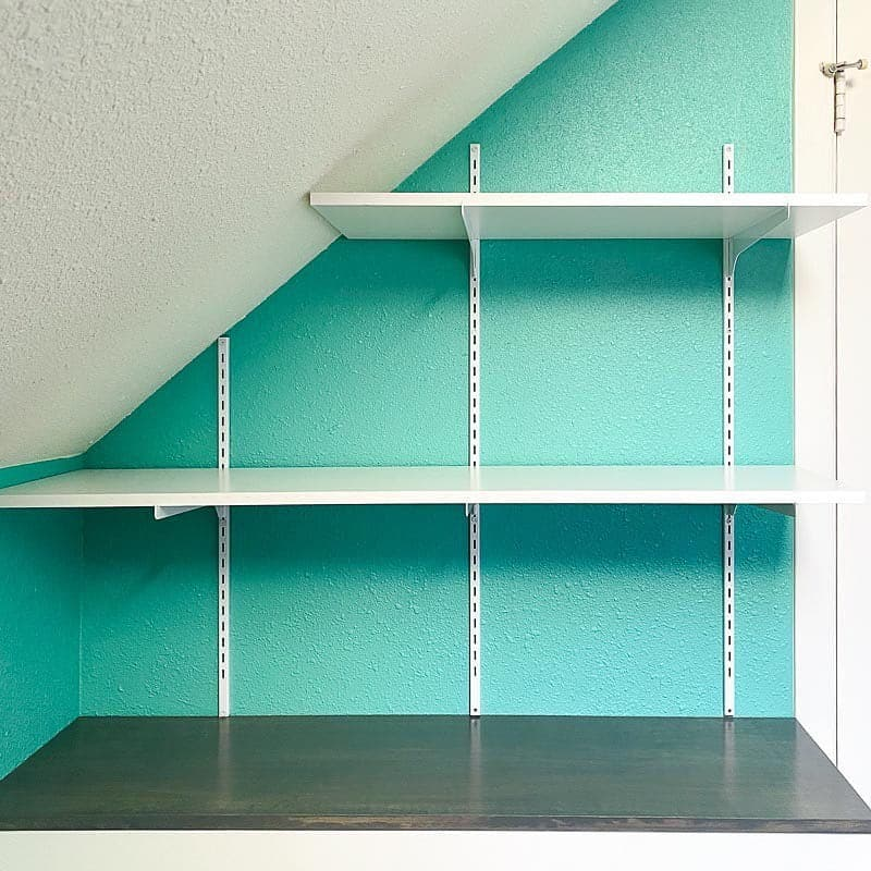 Adjustable Shelves as attic shelf