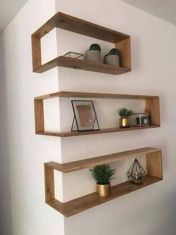 Aesthetic Wall-Mounted Shelves as Attic Shelf