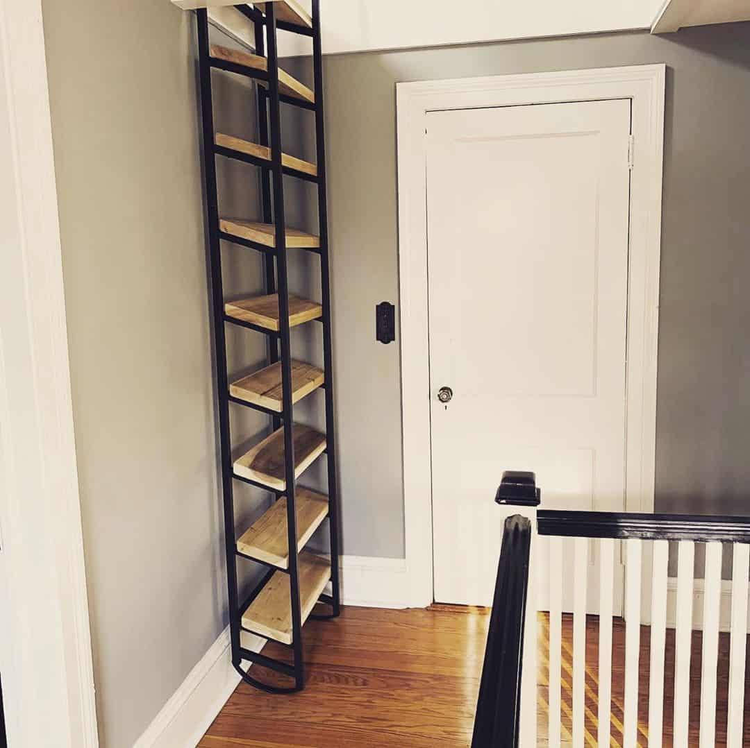 Attic Ladder as attic shelf