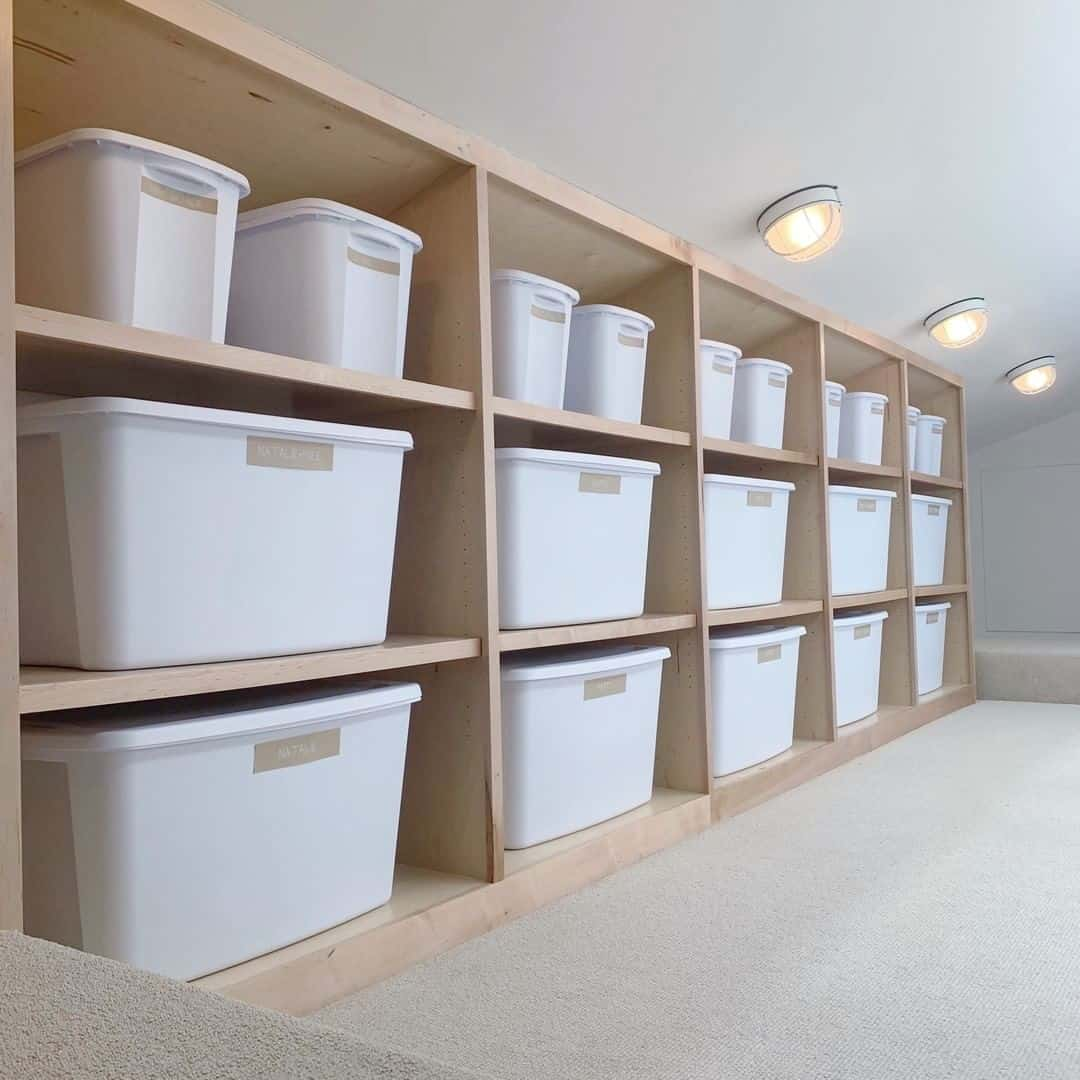 Extremely Wide Spacing as Attic Shelf