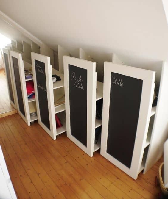 Hidden Attic Shelves