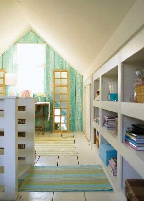In-Wall Organizers for attic shelf