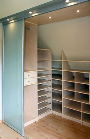 Partitioned Space as attic shelf