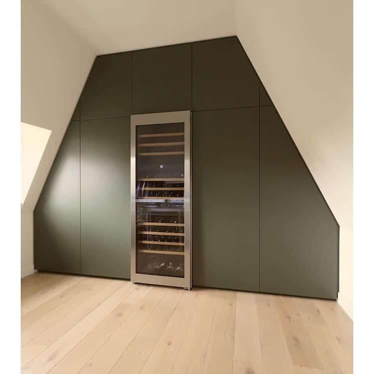 Reinforced Wine Cabinet as Attic Shelf