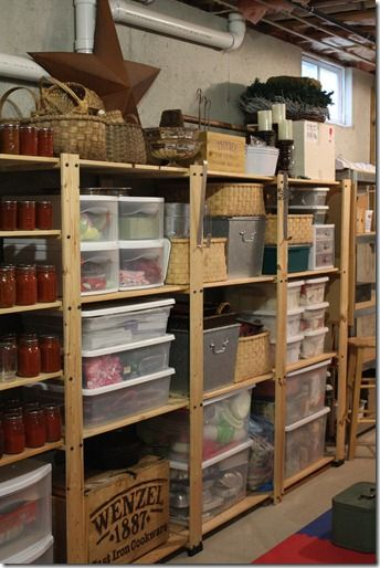 Reinforced Wooden Shelves as attic shelf