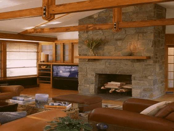 Suspended Wood Frame Ceiling