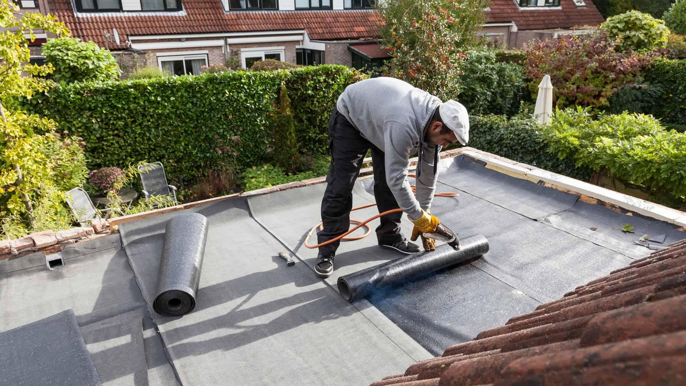 asphalt-saturated felt roof underlayment