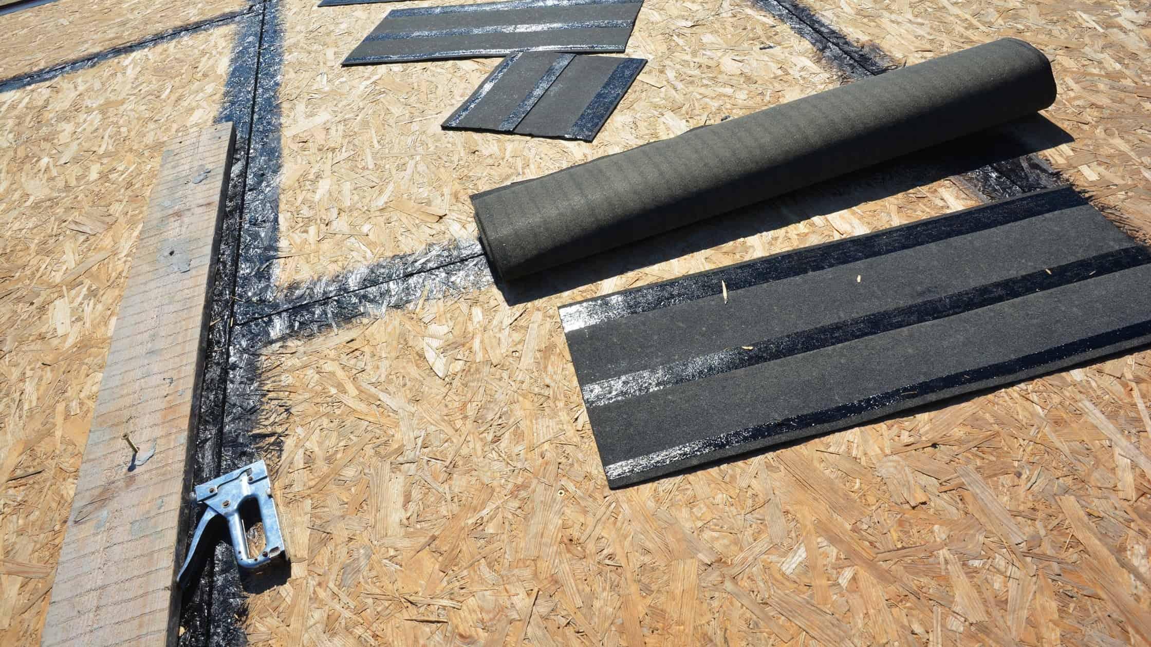 rubberized asphalt roof underlayment